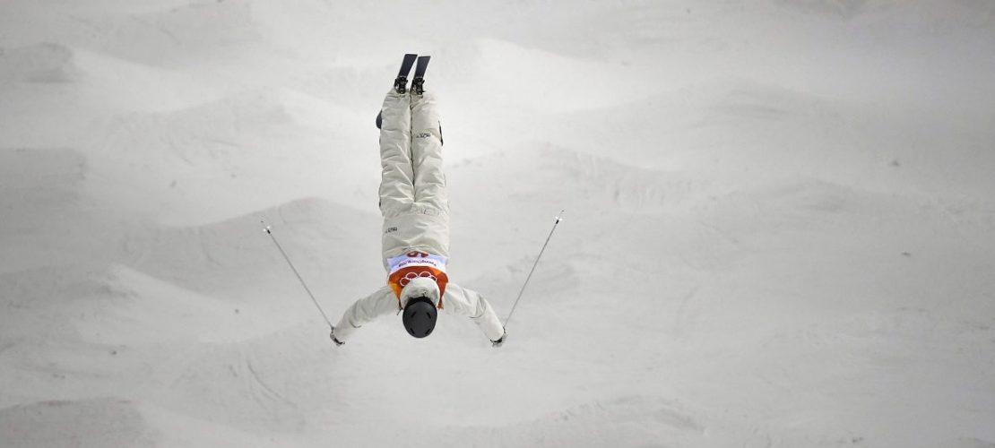 Ski Freestyle, Buckelpiste, Damen, 2. Qualifikationsrunde, Yongpyong Alpin-Zentrum: Katharina Förster aus Deutschland in Aktion. Foto: Angelika Warmuth/dpa +++ dpa-Bildfunk +++