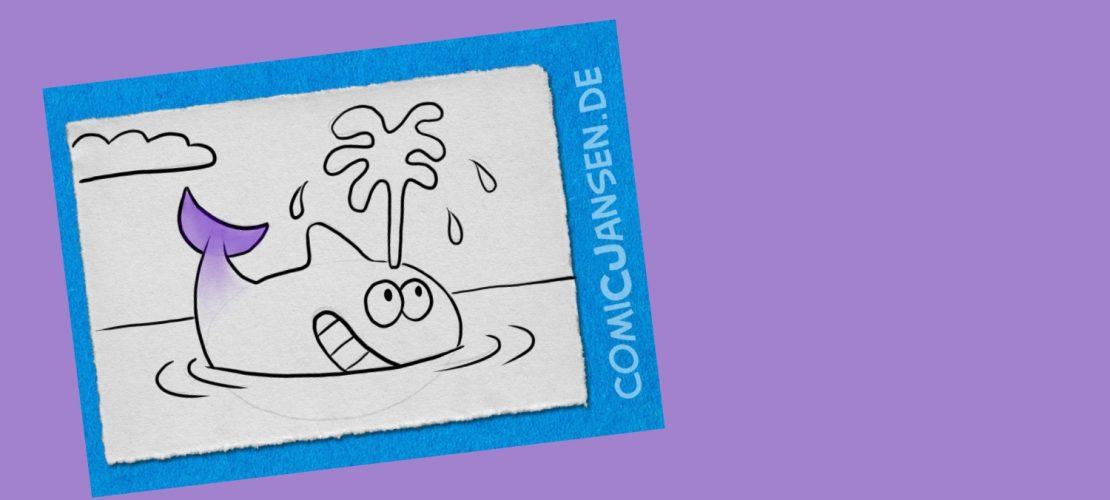 So zeichnet man einen Comic-Wal