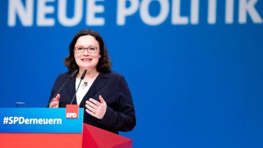 Andrea Nahles ist die erste Parteichefin der SPD und will die Partei erneuern. (Foto: imago stock&people)