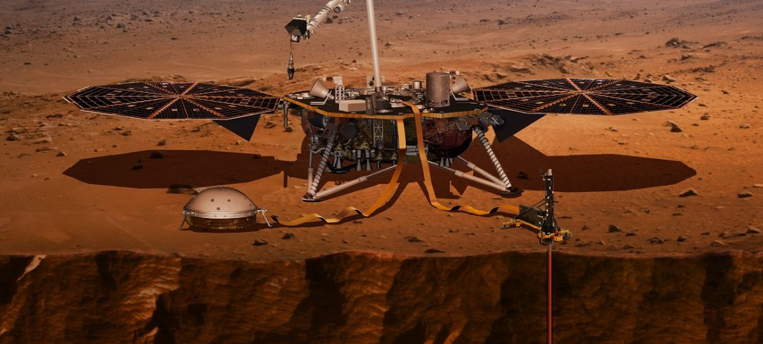 Die von der US-Raumfahrtbehörde NASA zur Verfügung gestellte Computer-Visualisierung zeigt den Lander