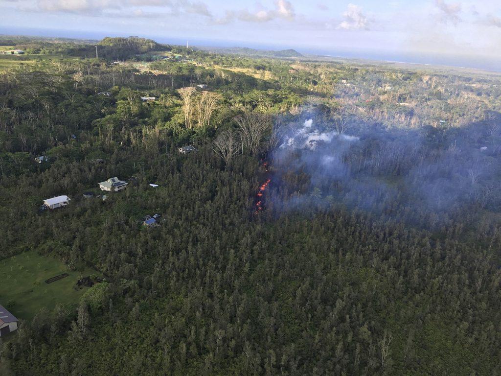 Sußer heiße Lava sprudelt aus dem Boden auf einer Insel in Hawaii. (Foto: U.S. Geolgogical Survey Via Ap/U.S. Geolgogical Survey via AP/dpa)