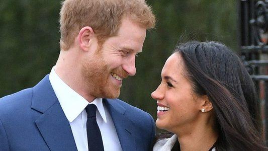 ARCHIV - 27.11.2017, Großbritannien, London: Der britische Prinz Harry und die US-amerikanische Schauspielerin Meghan Markle.(zu dpa