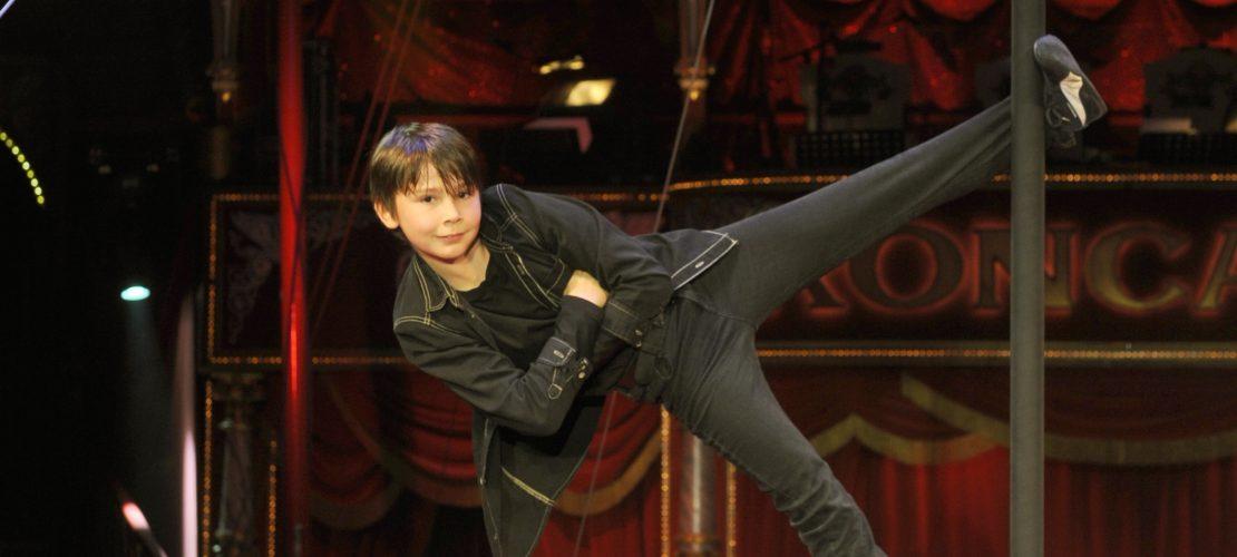 Justin ist Artist im Zirkus Roncalli und lebt hier mit seiner Familie. (Foto: Rako)