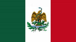 So sieht die Flagge von Mexiko aus! Foto: Von Yazen-145 - Eigenes Werk, CC0, https://commons.wikimedia.org/w/index.php?curid=39114914)