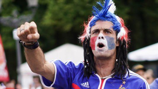 Französischer Fan (Foto: dpa)
