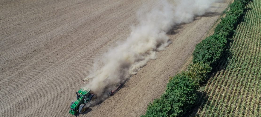 Ein Landwirt drillt Rapssaat in den trocken Boden: In diesem Jahr haben es viele Bauern schwer: Auf den Feldern ist es trocken. (Foto: Patrick Pleul/dpa)