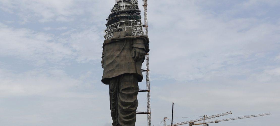 Wenn die Statue mal fertig ist, soll sie Sardar Vallabhbhai Patel darstellen. (Foto: dpa)