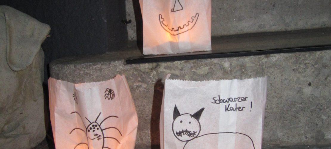 Schaurige Lichter für Halloween