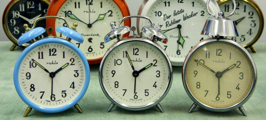 Wir drehen an der Uhr