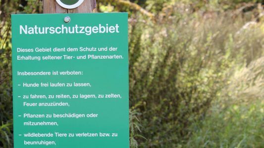Eine Zone für Pflanzen und Tiere